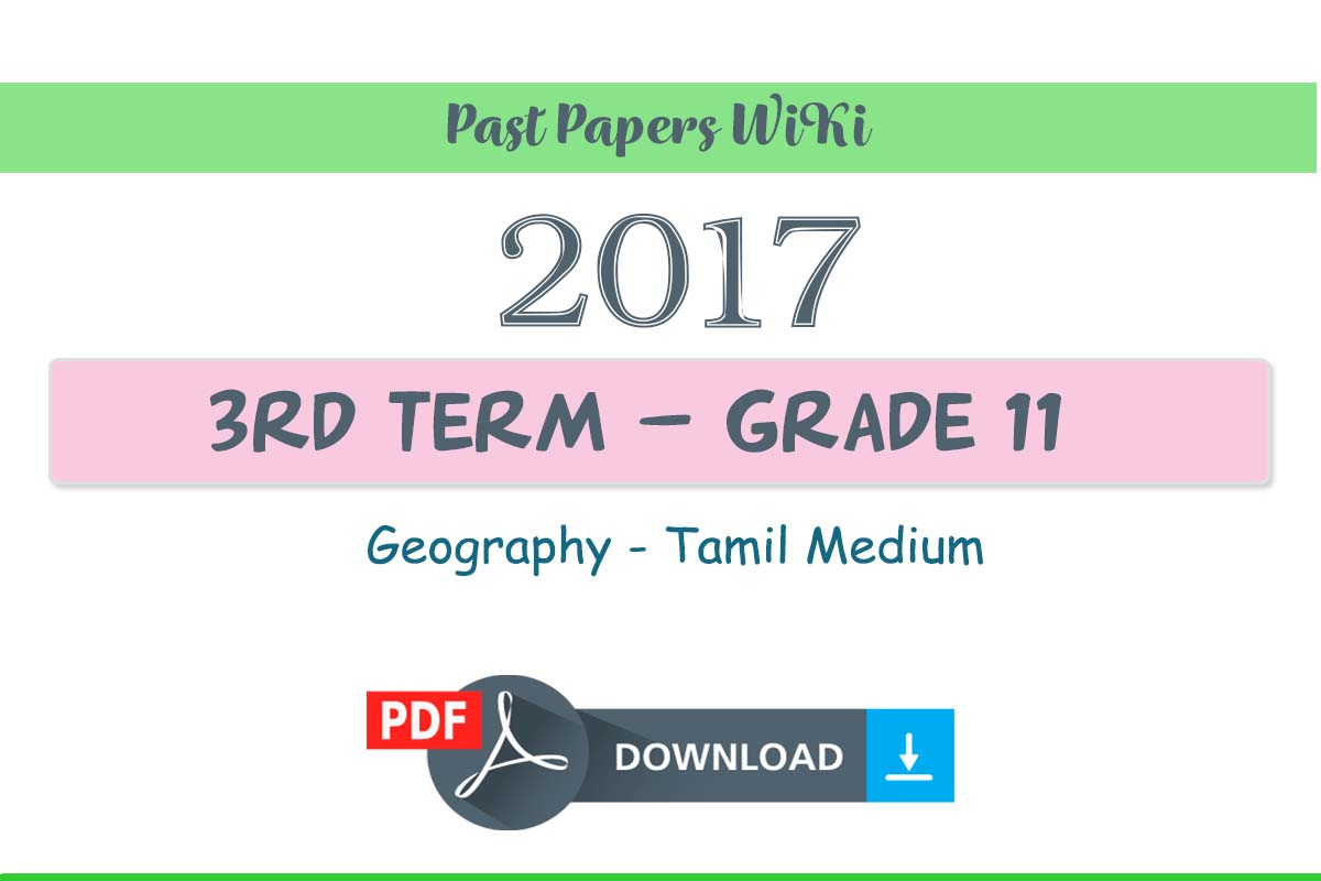 2018 Grade 11 Geography Third Term Test Paper